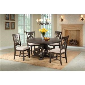 table and chairs with bench children's desk chair jules sets great american home store round pedestal 4 set