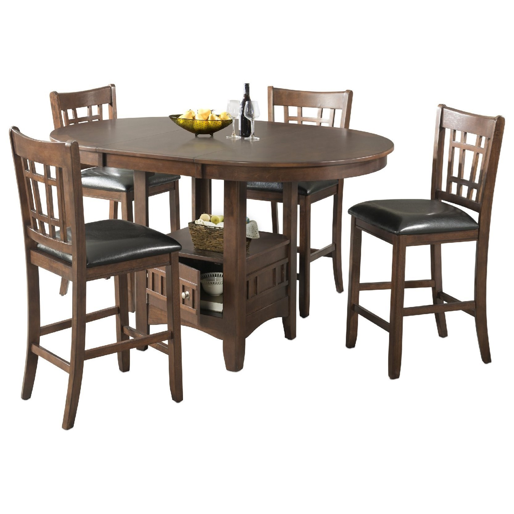 Bar Table With Chairs Max Casual Counter Height Table Set By Elements International At Miskelly Furniture