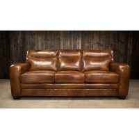 Elements Montebello Leather Sofa with Low-Profile Arms ...