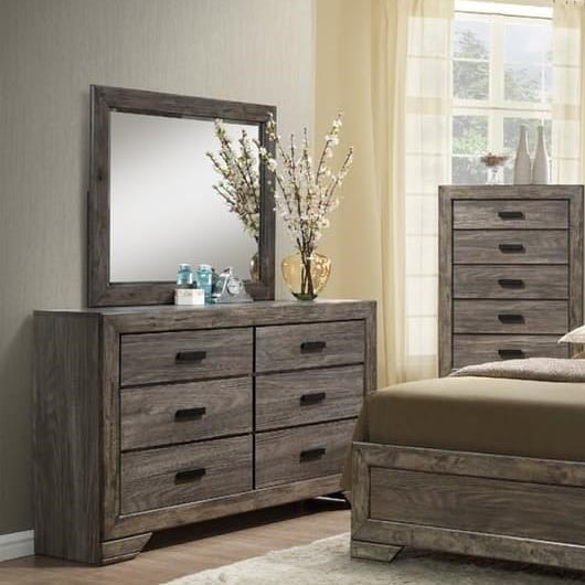 Elements International Nathan Dresser And Mirror Set Great American Home Store Dresser