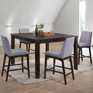 table and chairs with bench leap chair by steelcase sets beck s furniture five piece counter height dining set