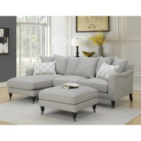 Amelie Traditional Sectional Sofa with Chaise   Sadler&39;s ...