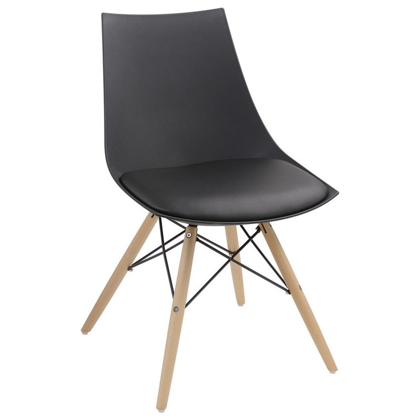 Emerald Annette Dining Chair with PU Seat Wood Base and