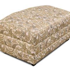 Camo Living Room Furniture Sets Burnt Orange Paint Color England Brantley 5630-81 Upholstered Storage Ottoman ...