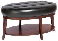 Fairfield Ottomans Oval Cocktail Ottoman with Tufted Seat ...