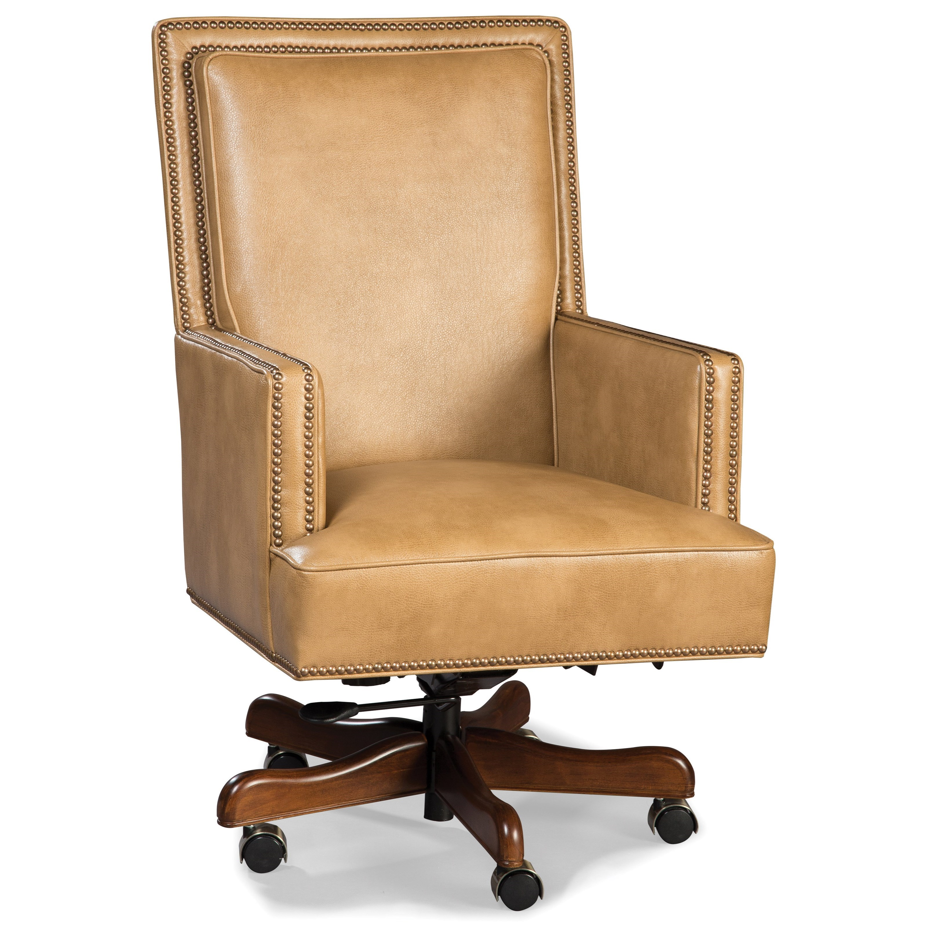 Fairfield Chairs Fairfield Chairs Traditional Rolling Executive Chair With Nailhead