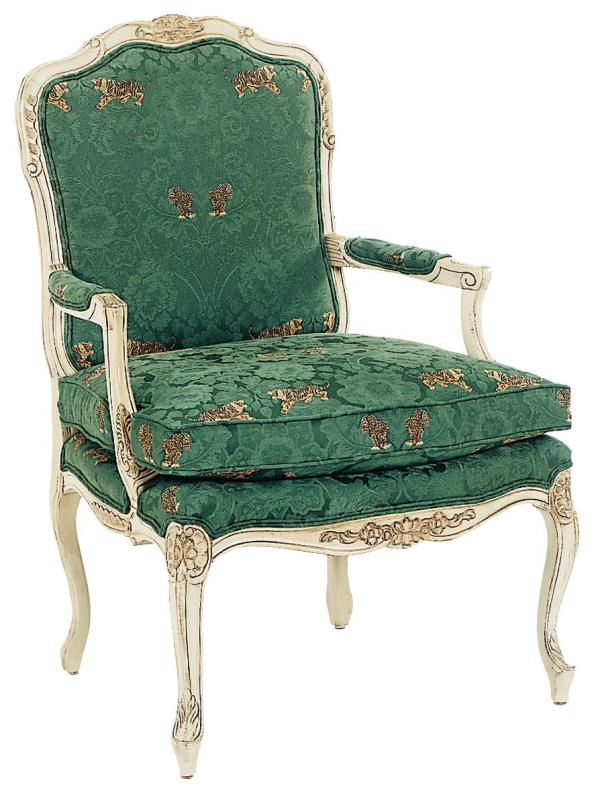 Grove Park Chairs Intricately Carved Accent Chair With Box