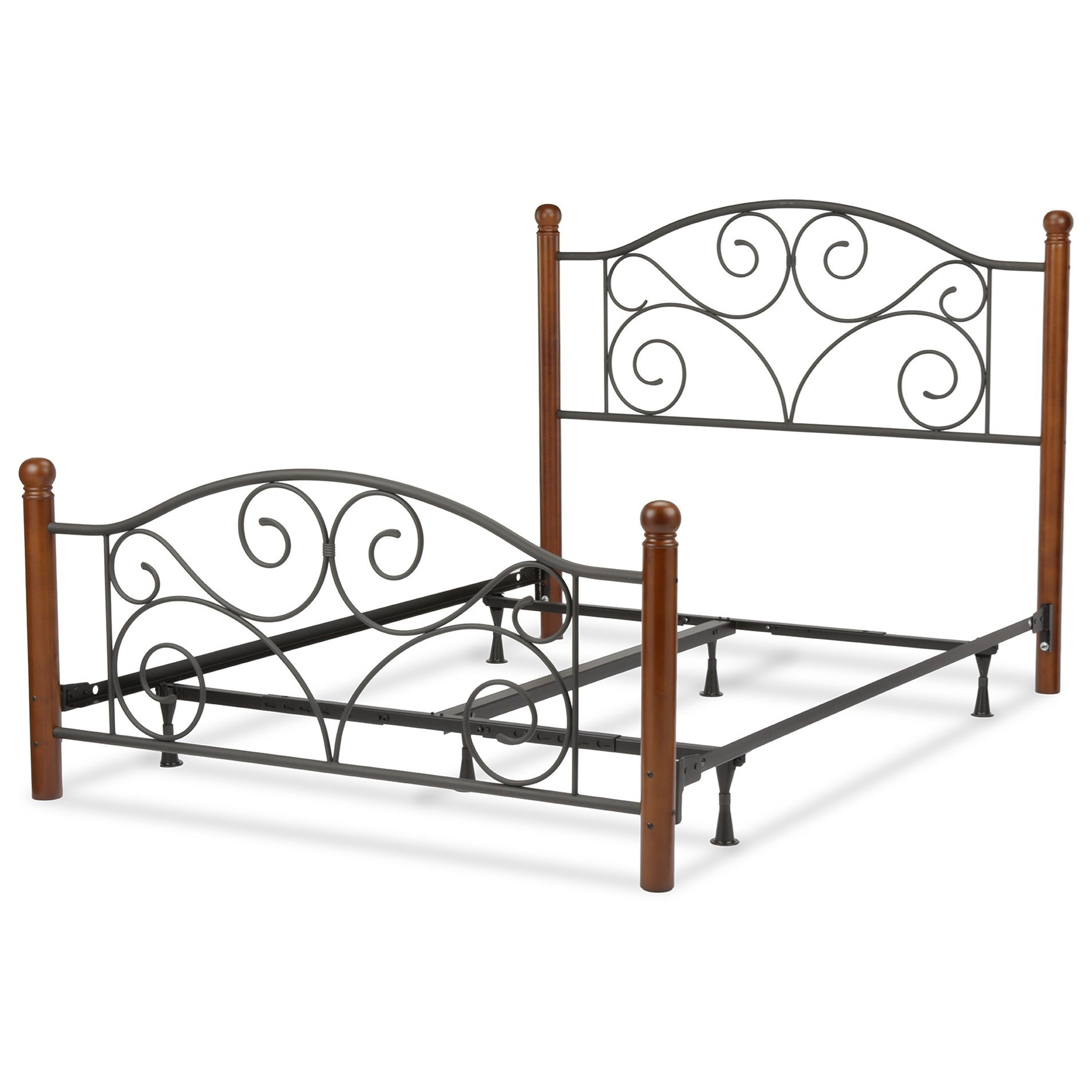 Fashion Bed Group Wood And Metal Beds B Queen Doral