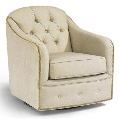 Chair And A Half Rocker With Ottoman Hunting Chairs For Big Men Flexsteel Accents Fairchild Swivel Nailhead Trim | Wayside Furniture Upholstered