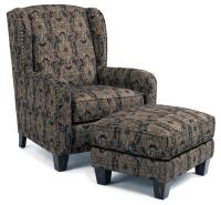 Flexsteel Accents Perth Wing Chair and Ottoman with ...