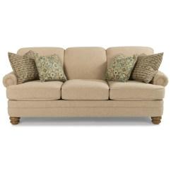 Bay Sofa Ikea Leather Bed Flexsteel Bridge 7790 31 Traditional Rolled Back Dunk