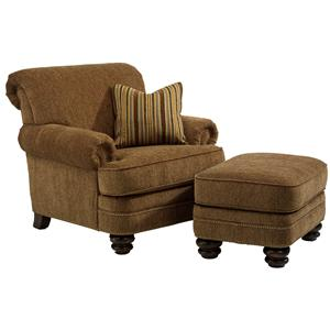 chair with ottoman lift accessories flexsteel fremont traditional rolled back set crowley furniture mattress sets