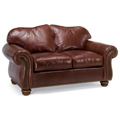 Flexsteel Bexley Sofa Chesterfield Fabric Uk Traditional Love Seat With Nailhead Trim ...