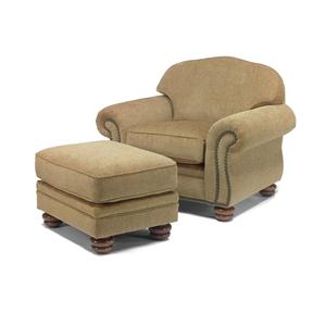 flexsteel chair prices rubber feet caps bexley traditional and ottoman with nail head trim dunk bright furniture sets