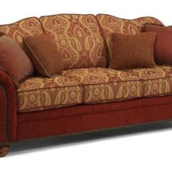 Broyhill Sofa Prices Craftmaster Construction Flexsteel Bexley Traditional With Nail Head Trim ...