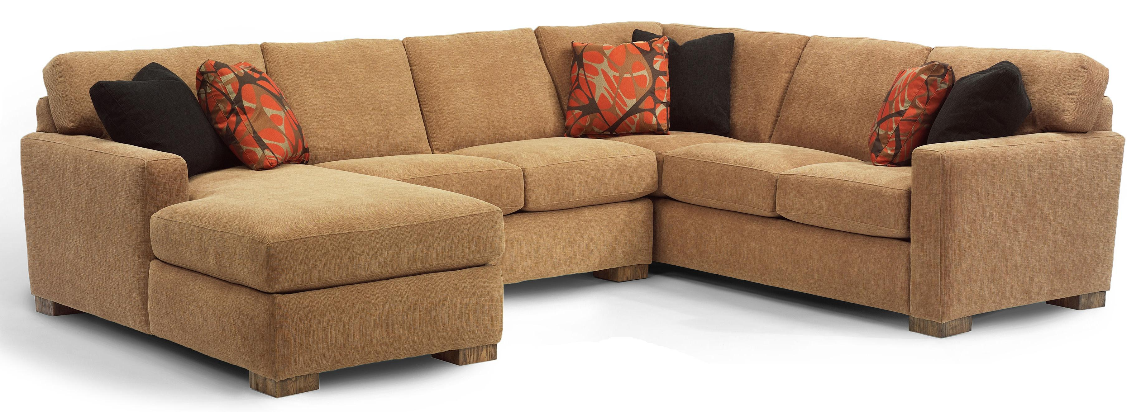 flexsteel sofa sets true modern bryant contemporary 3 pc sectional with laf chaise