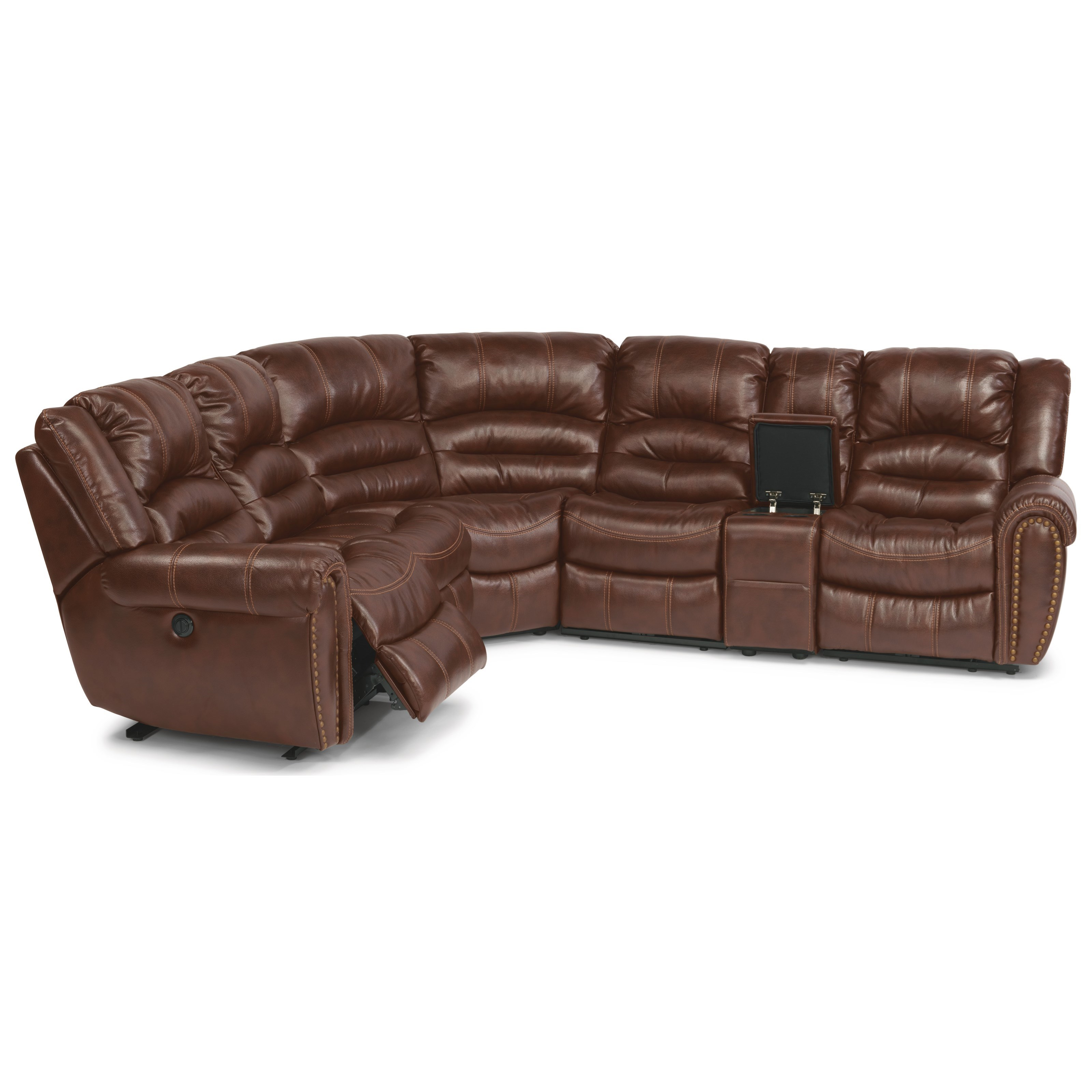 flexsteel reclining sofa warranty convertible bed with trundle crosstown six piece power sectional 6 pc