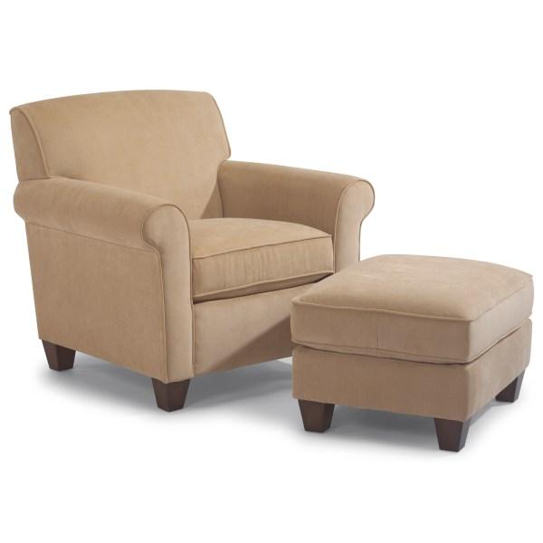 Flexsteel Dana Upholstered Chair And Ottoman Dunk