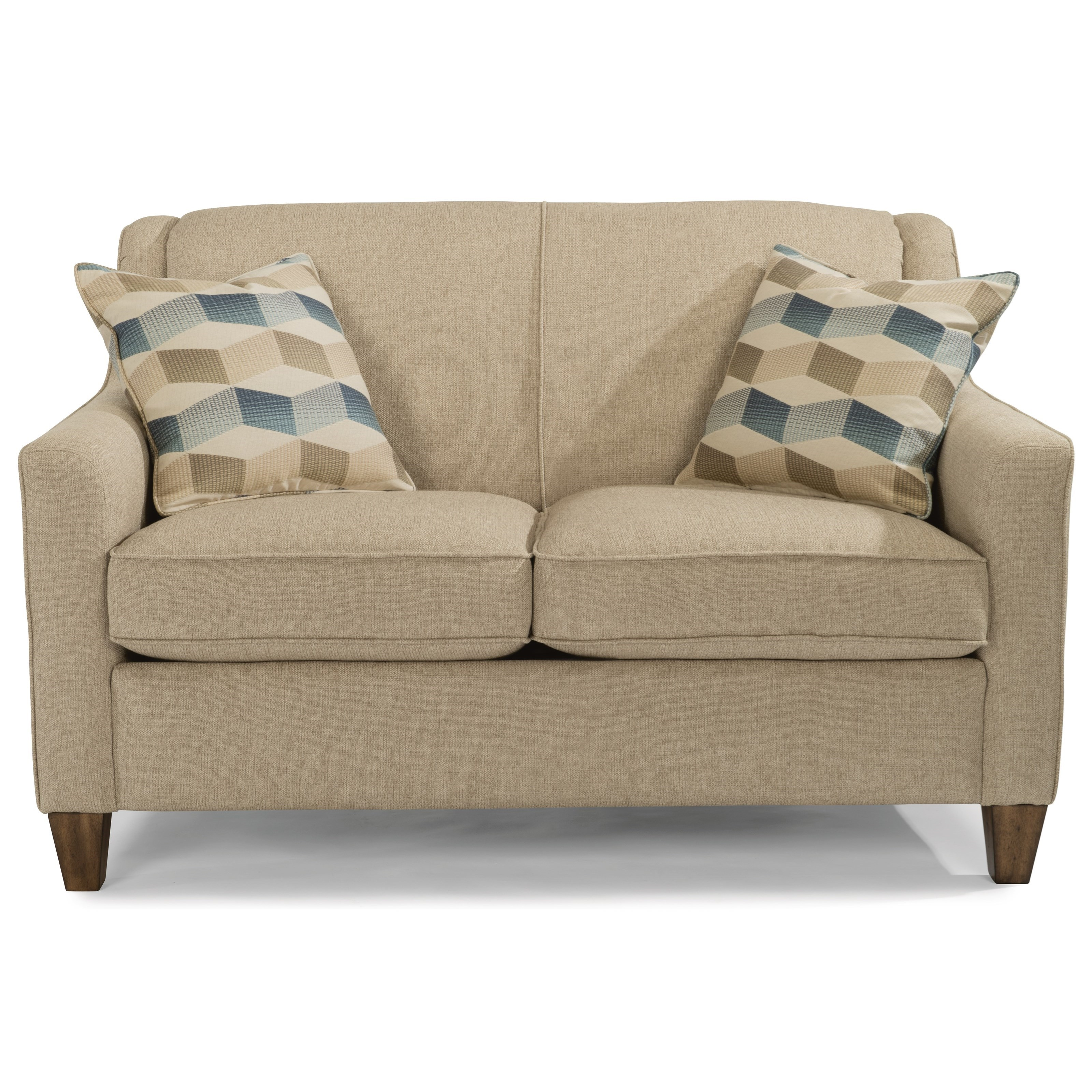 Flexsteel Holly Contemporary Love Seat With Welt Cording