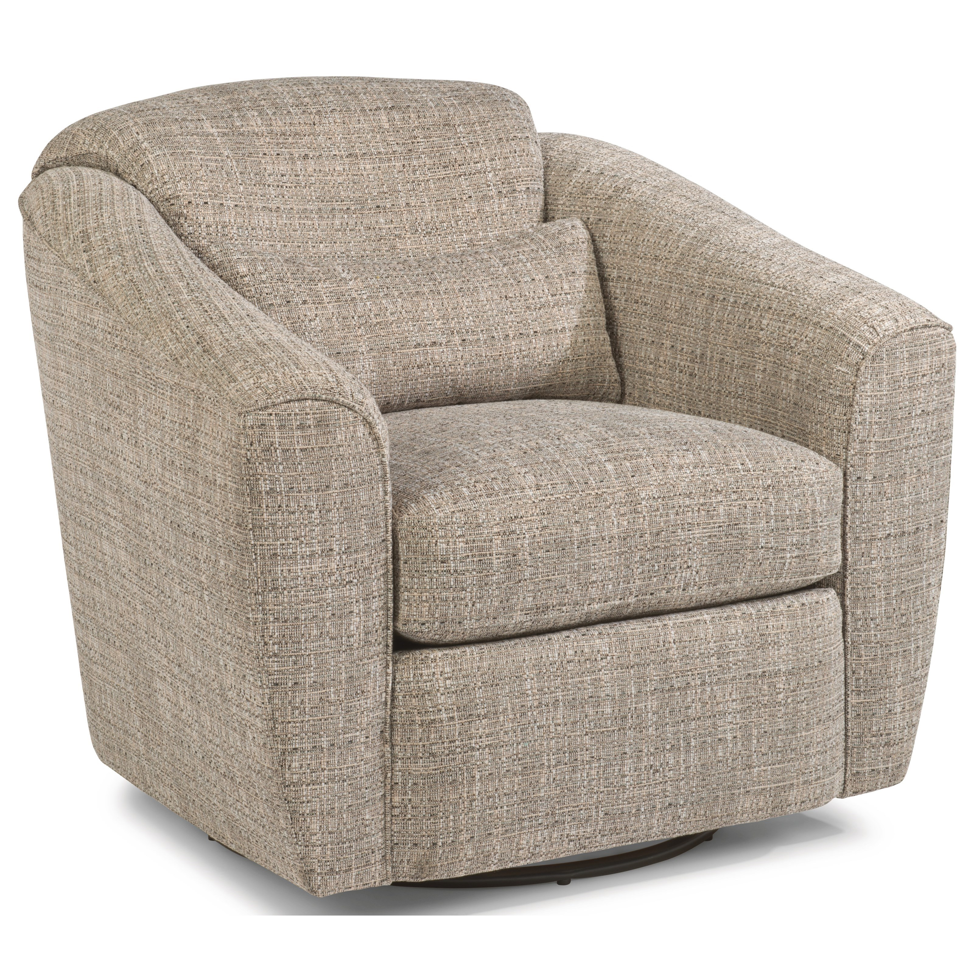 comfortable swivel chair inflatable outdoor sofa flexsteel jaxon casual rooms and rest upholstered by