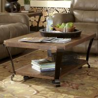 Flexsteel Kenwood Rectangular Cocktail Table with Casters ...