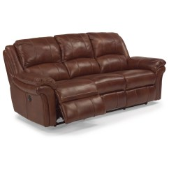 Flexsteel Leather Sofa Price French Country Fabric Latitudes - Dandridge Casual Power Reclining ...