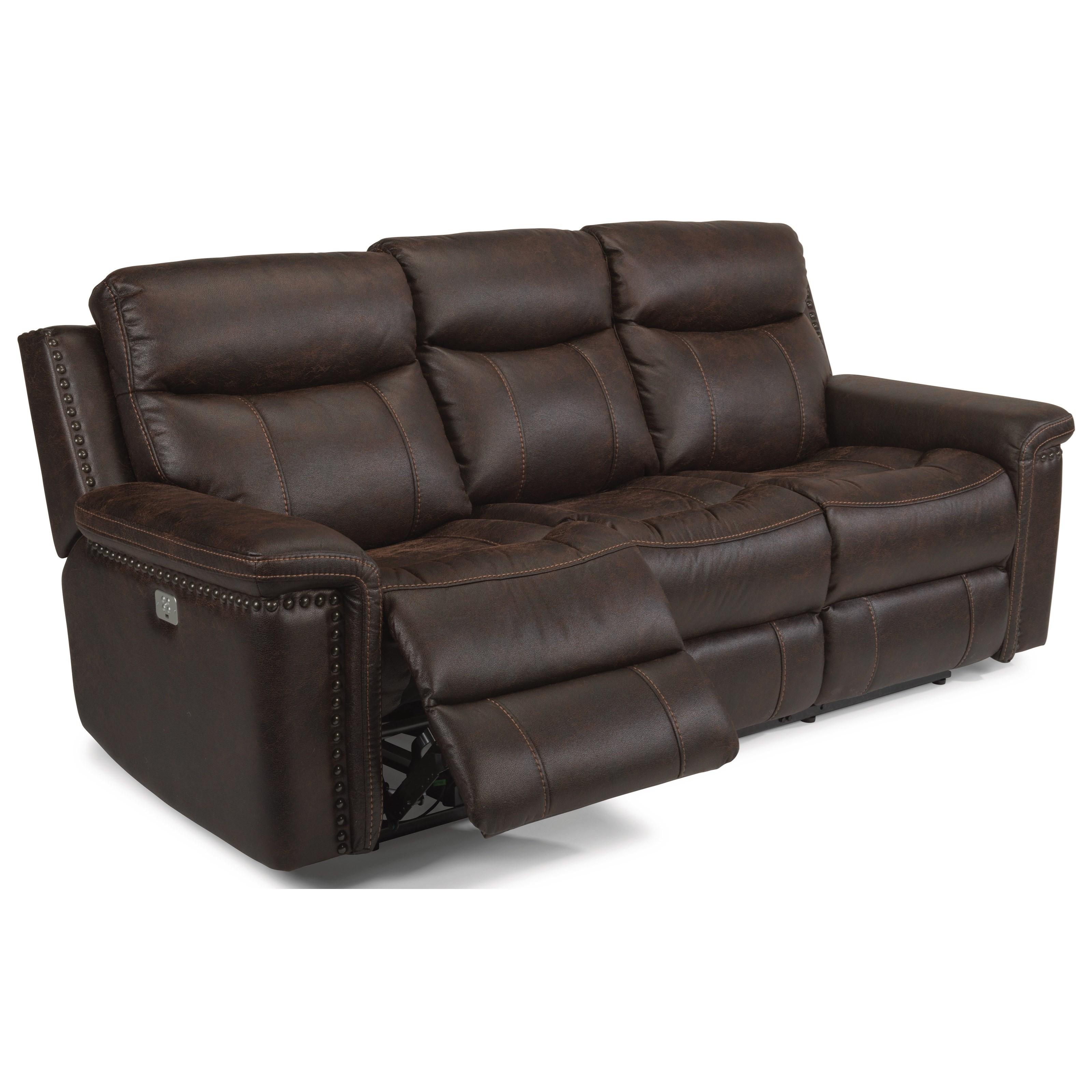 flexsteel reclining sofa warranty replacement seat cushions australia latitudes trevor 1362 62ph rustic power with headrests