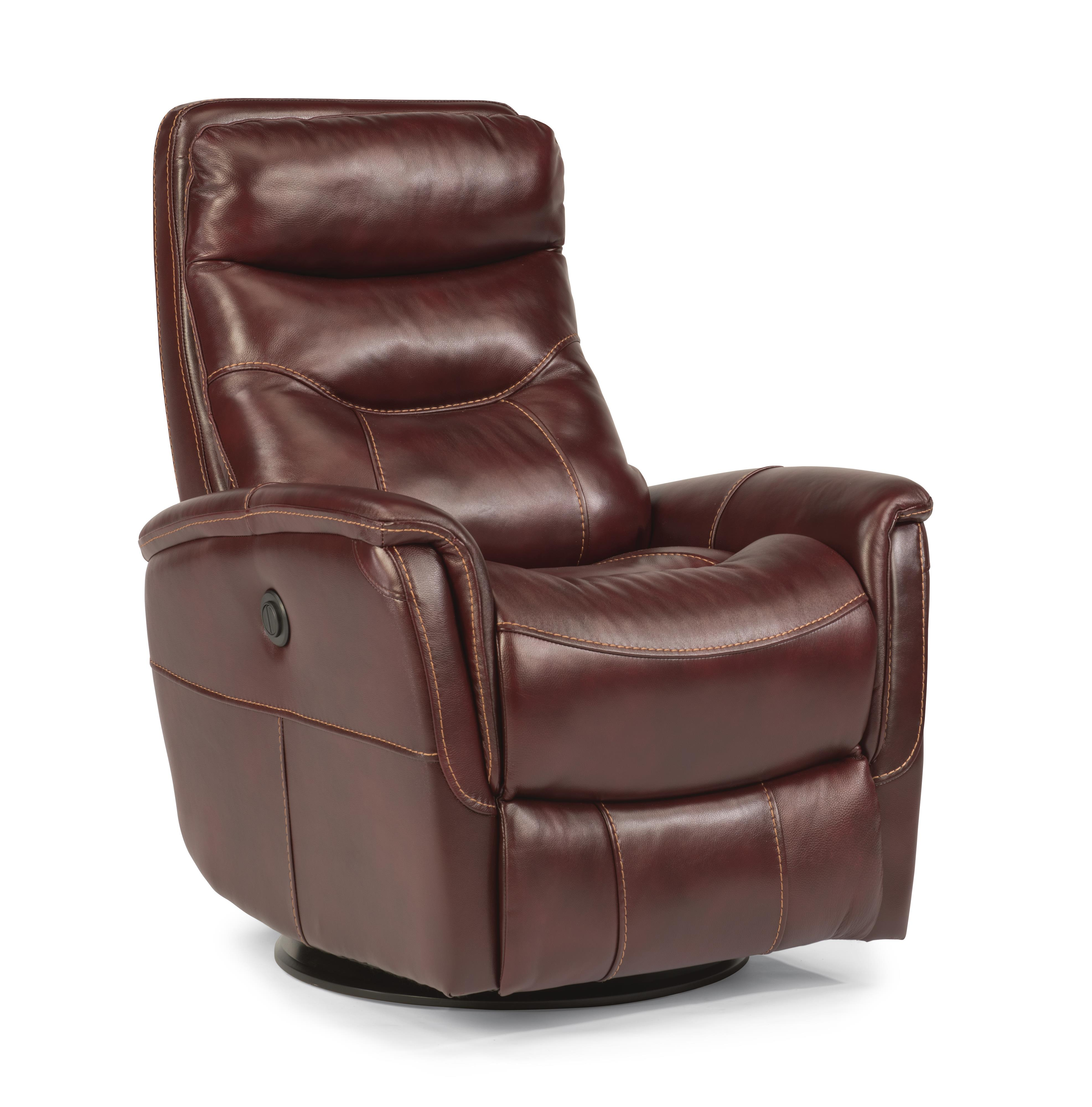 Leather Reclining Chairs Latitudes Go Anywhere Recliners Alden King Size Power Swivel Glider Recliner By Flexsteel At Wayside Furniture