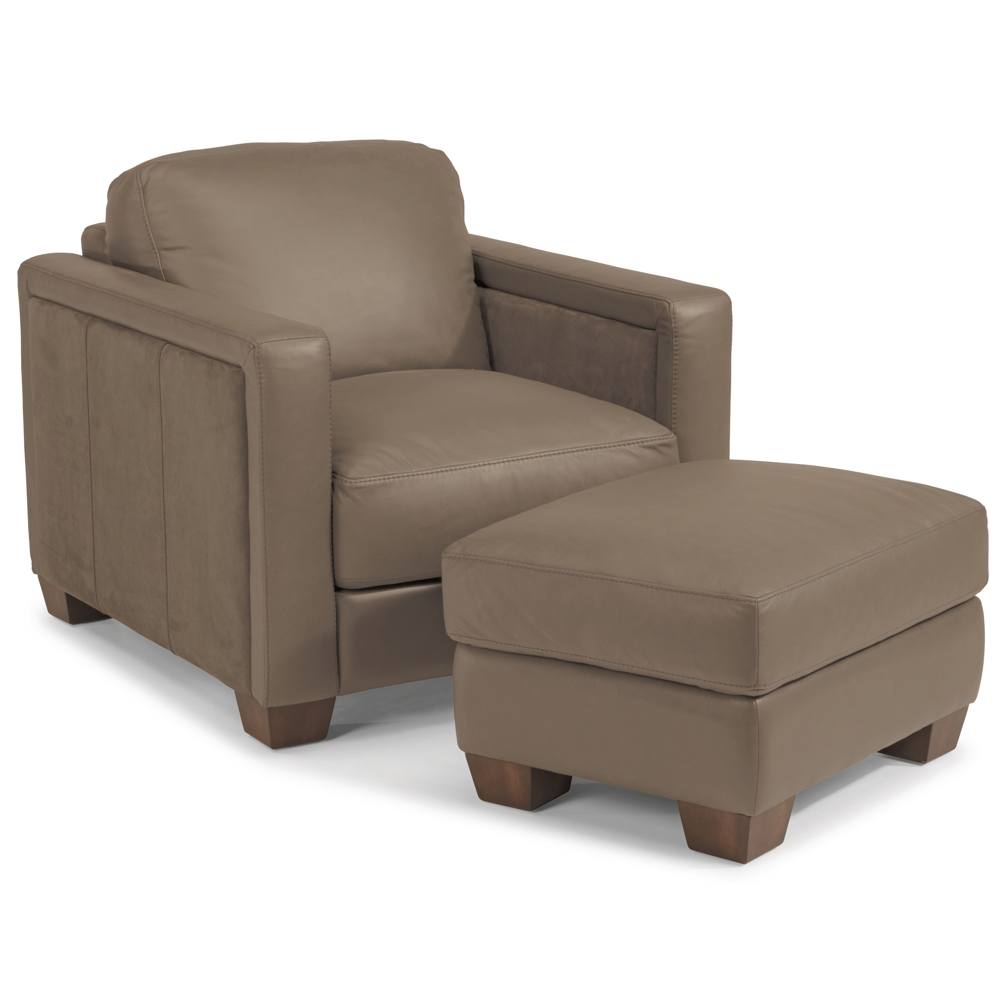 Flexsteel LatitudesWyman Contemporary Chair and Ottoman