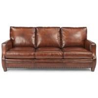 Flexsteel Latitudes - Maxfield Rustic Leather Sofa with ...