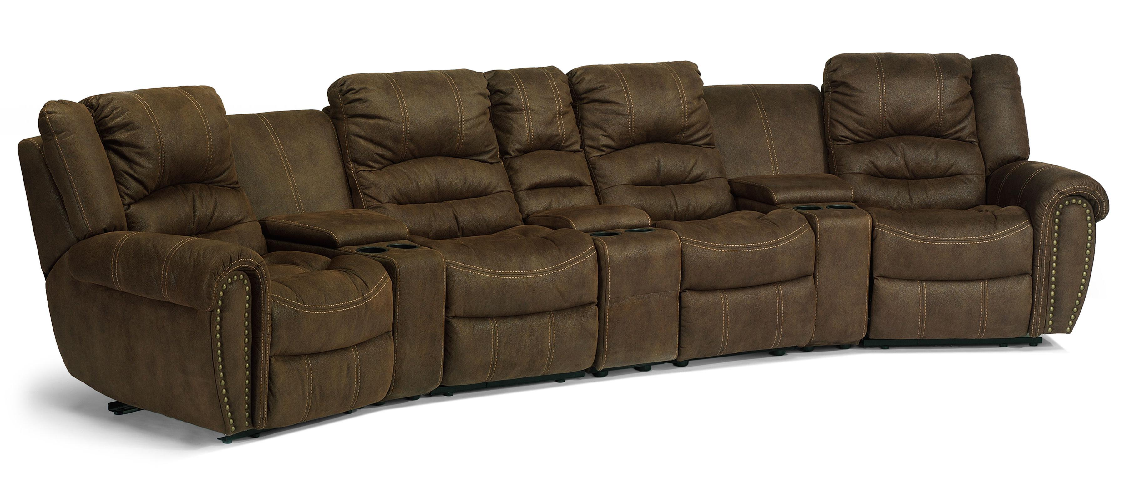 Flexsteel Latitudes  New Town Curved Reclining Sectional