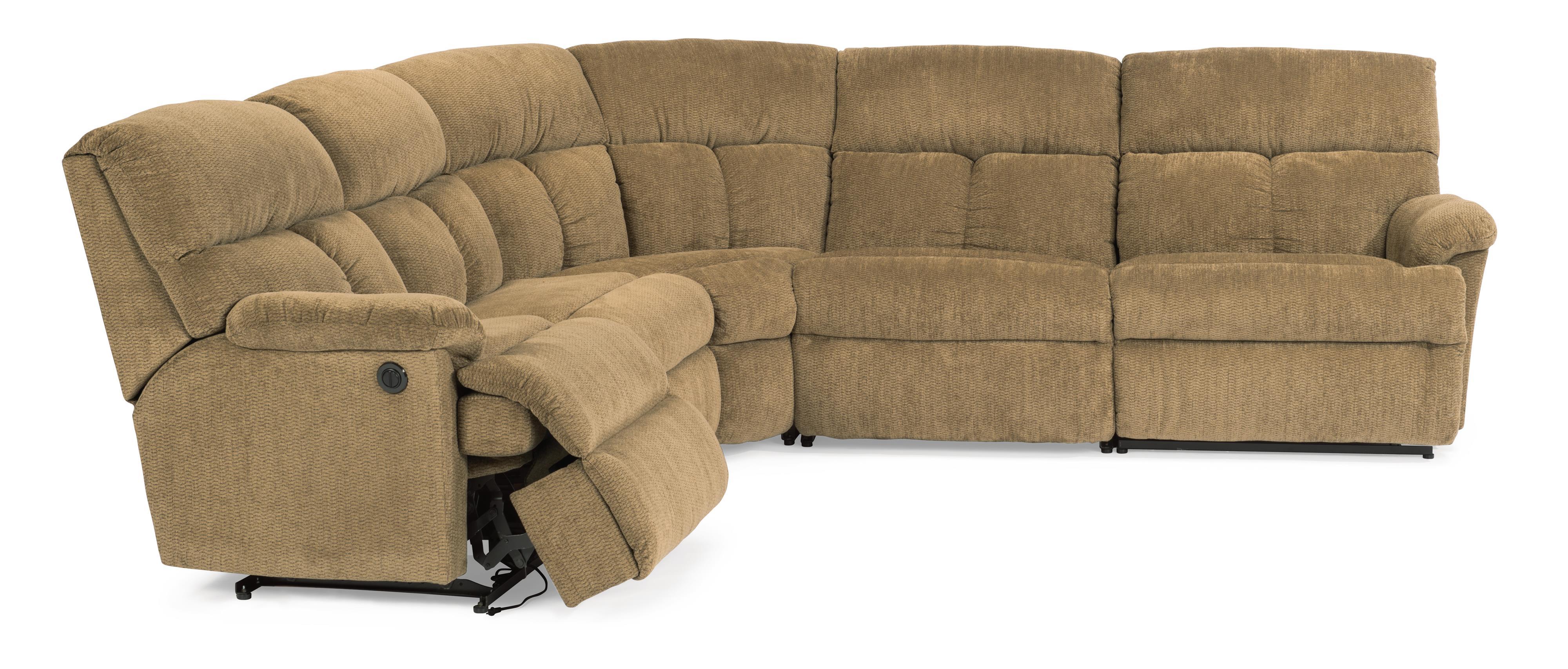 Flexsteel Triton Reclining Sofa Sectional  Conlins