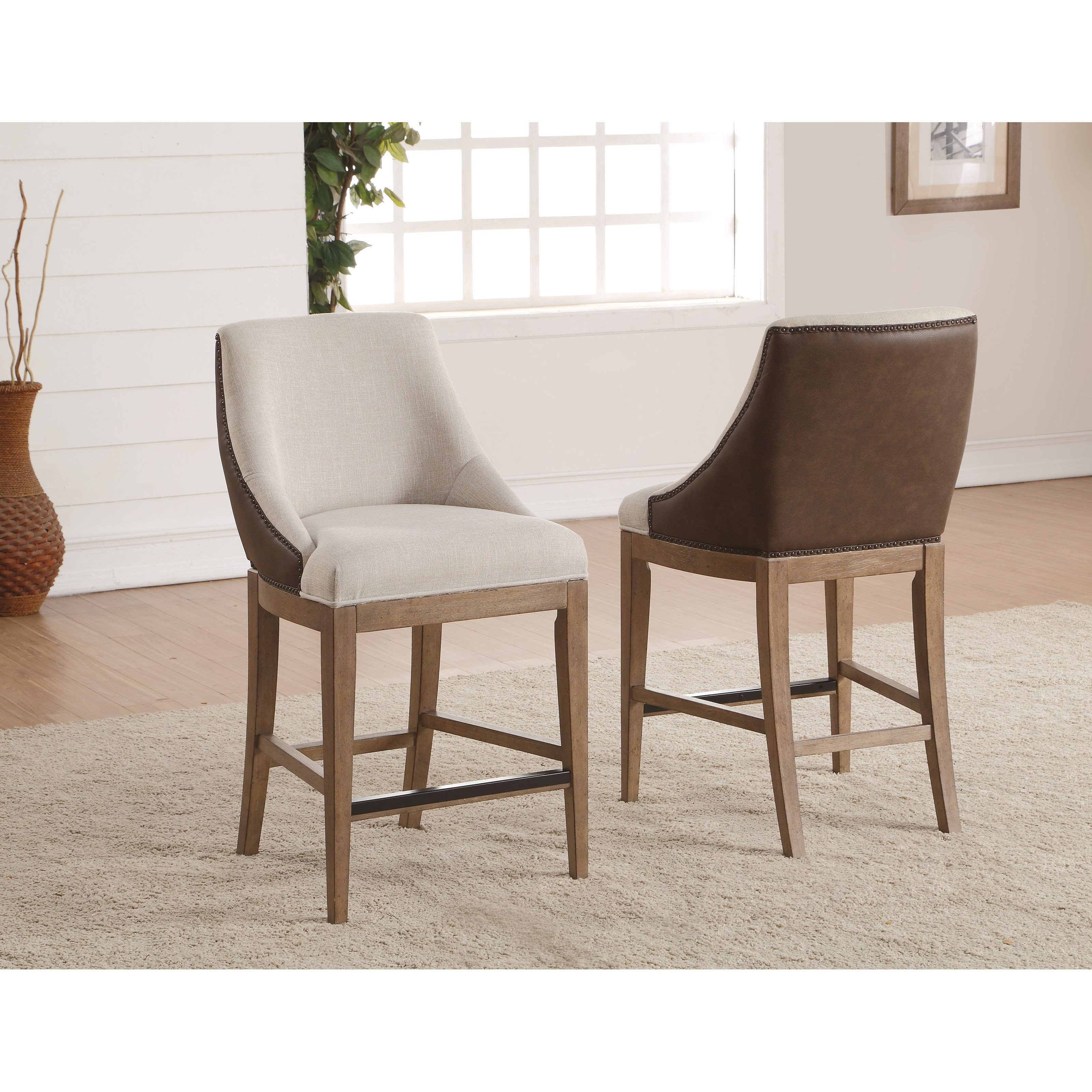 upholstered counter height chairs ergonomic office uk flexsteel wynwood collection carmen transitional chair
