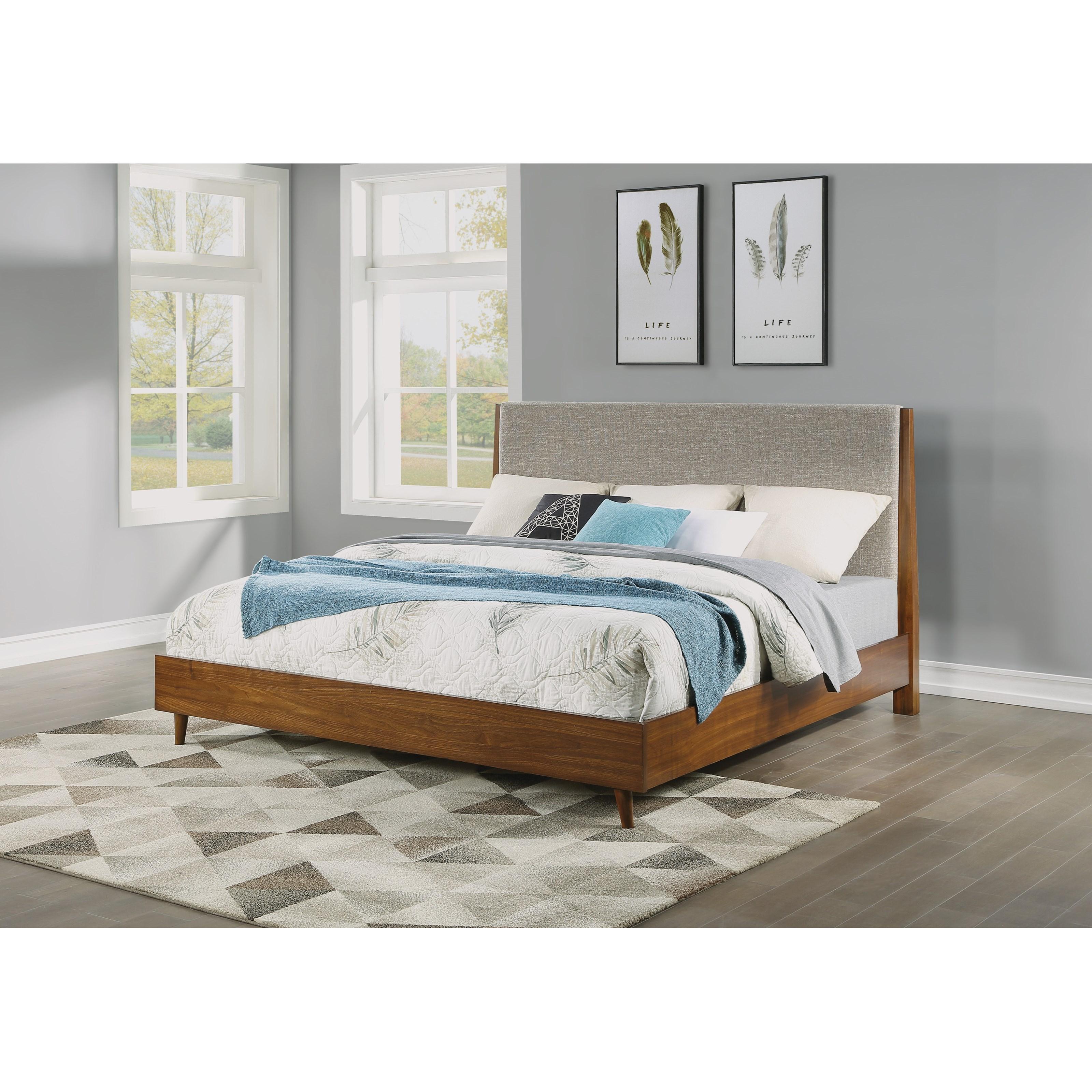 carmen carmen queen upholstered bed