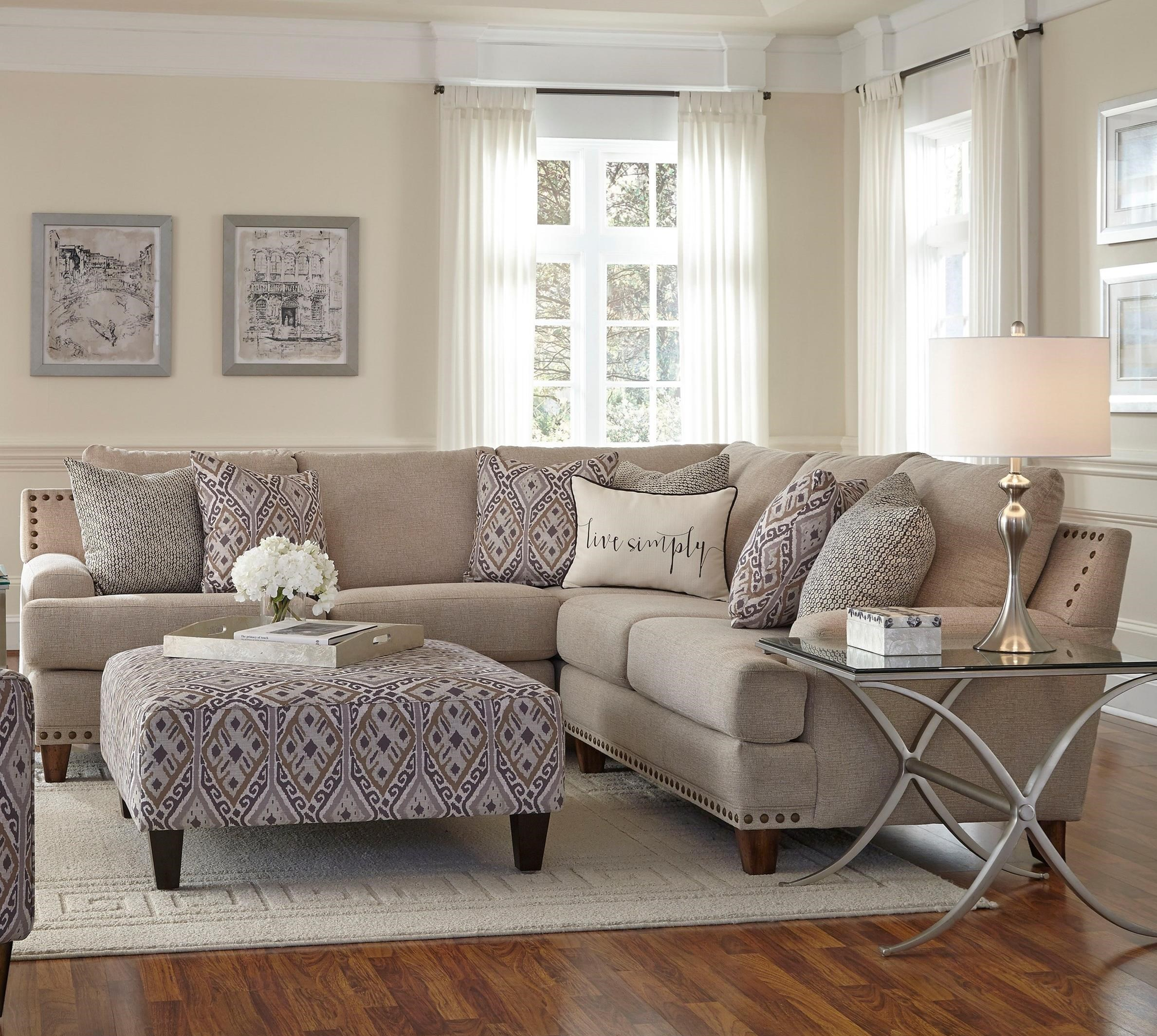 Franklin Anna Sectional Sofa With Four Seats  Miskelly