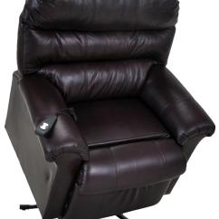 Power Lift Chair Mid Century Modern And Ottoman Franklin Recliners 498 Lm 10 75 Chocolate Leather
