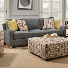 Palmer Sofa Modern Compact Leather Sectional Franklin Contemporary With Sloping Track Arms Olinde S