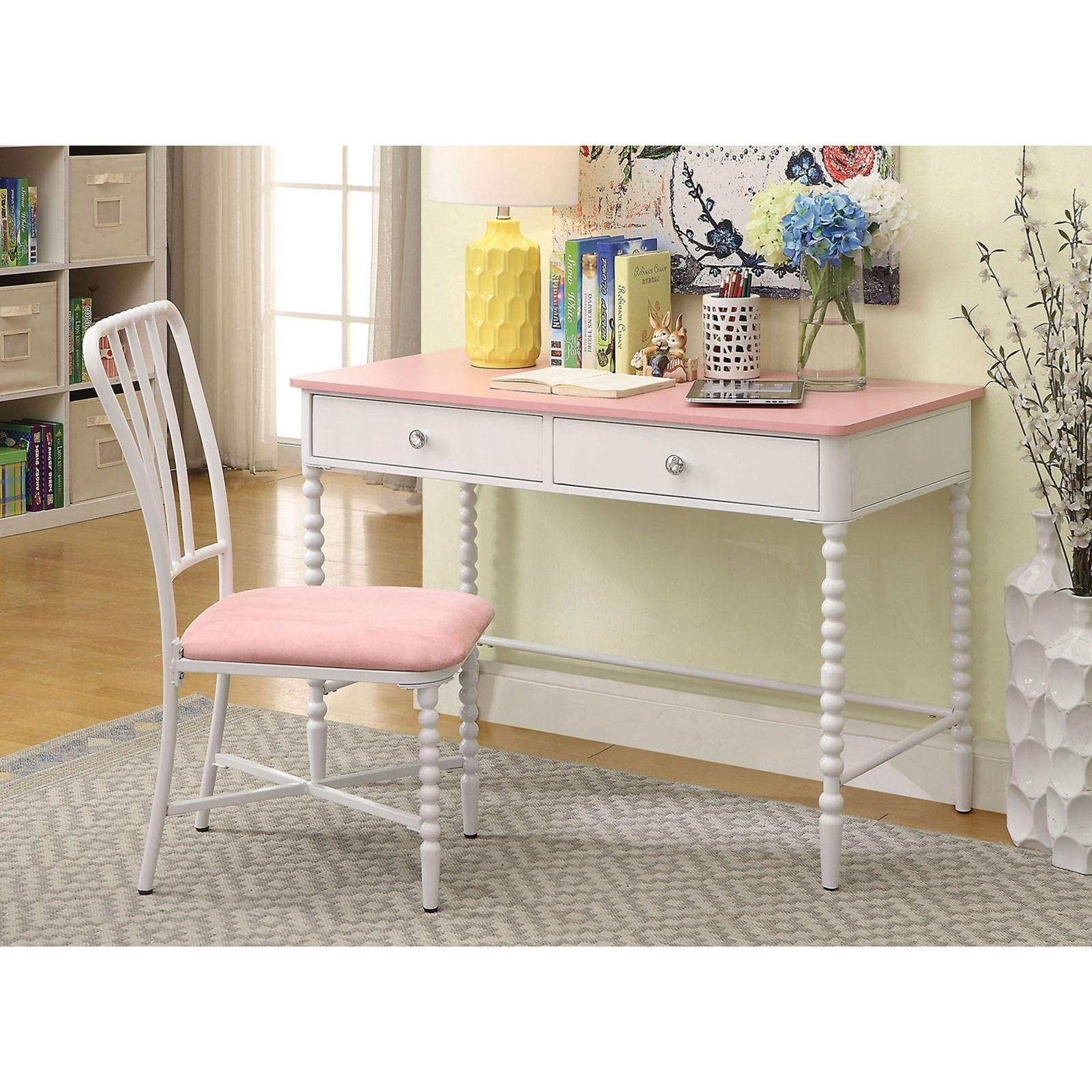 Desk And Chair Set Coco Desk And Chair Set With 2 Drawers By Furniture Of America At Rooms For Less