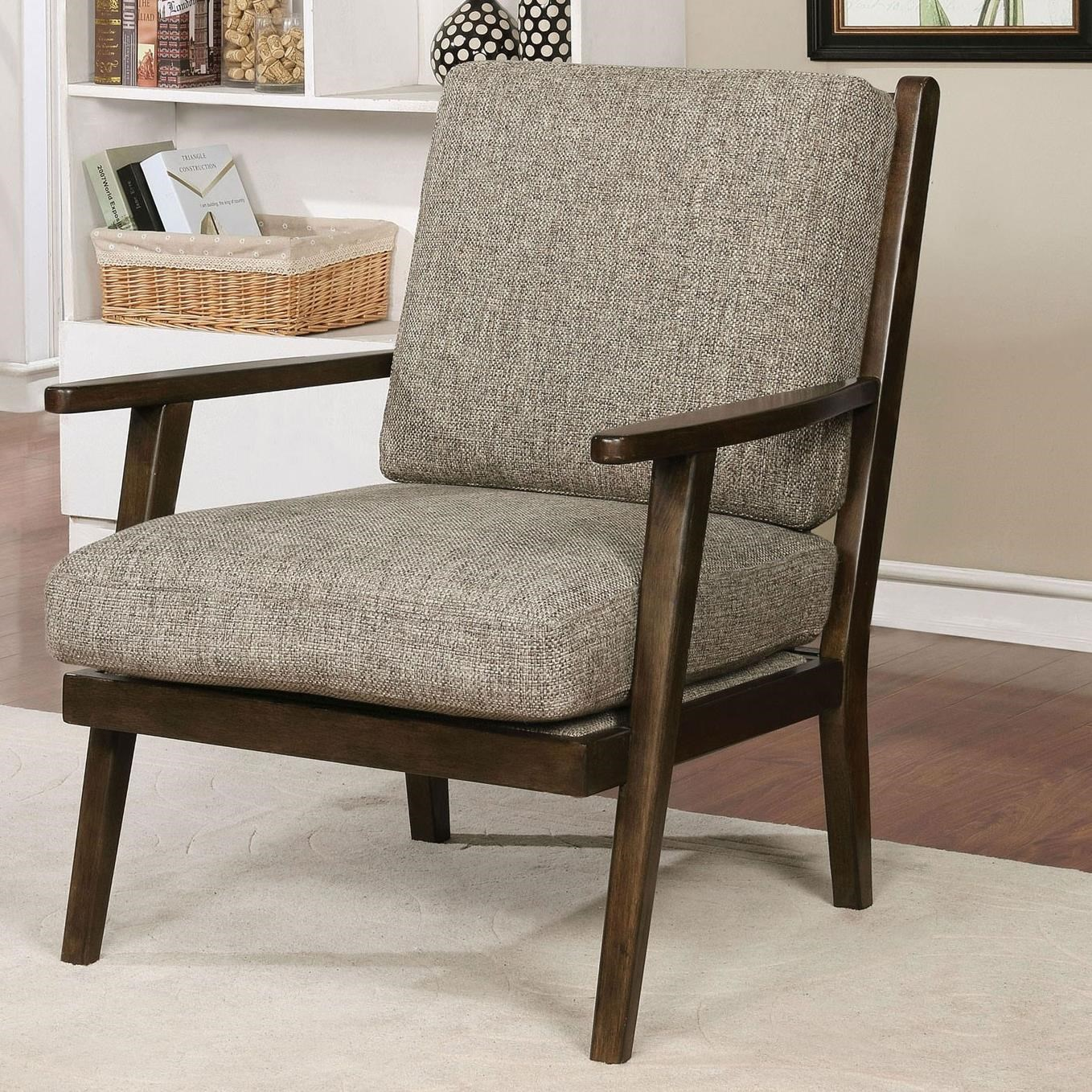 Mid Century Modern Accent Chair Eir Mid Century Modern Accent Chair With Exposed Wood By Furniture Of America At Rooms For Less