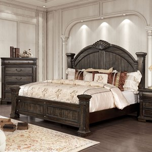 genevieve traditional king poster bed
