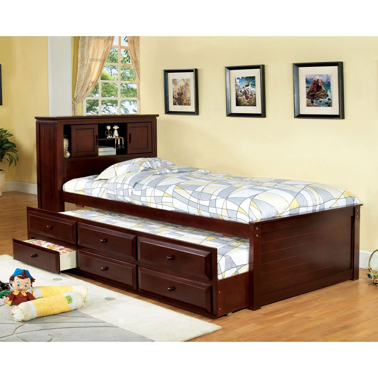 South Land Captain Twin Bed W Trundle And 3 Drawers