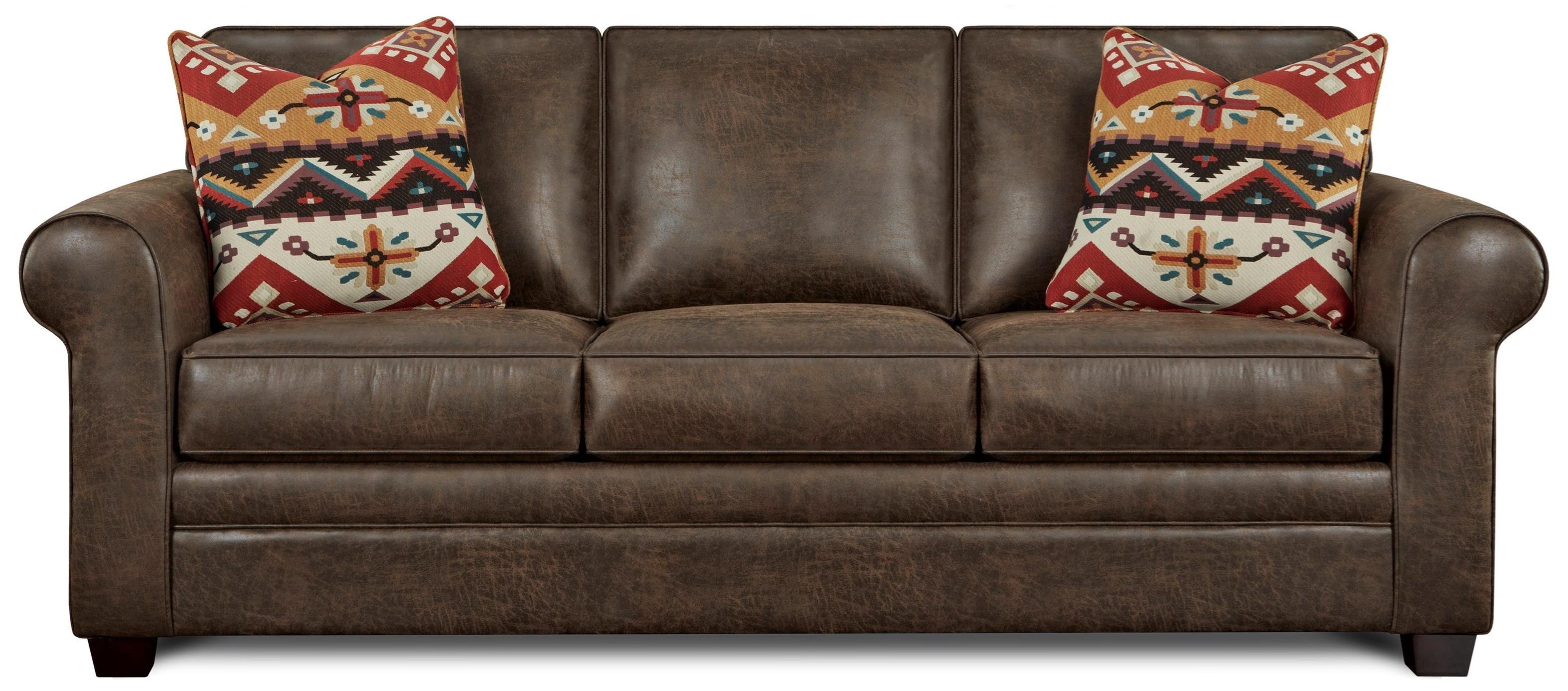 Fusion Furniture Sleeper Program Faux Leather Queen Sleeper