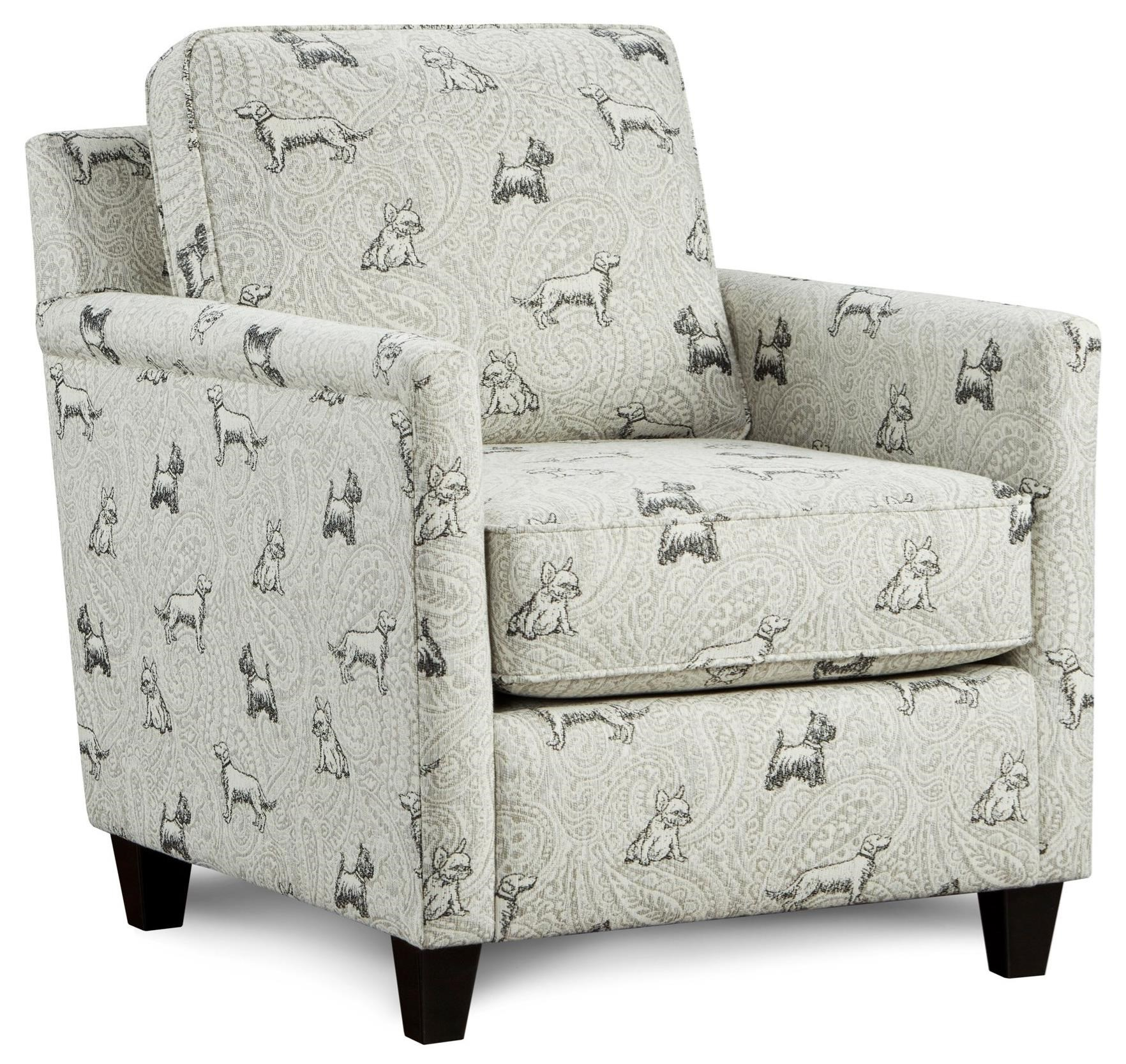 Fusion Furniture 21 02 Accent Chair Darvin Furniture Upholstered Chairs