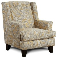Fusion Furniture 260 Transitional Wing Back Chair ...