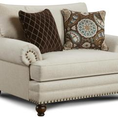 Chair And A Half Sleeper High Back Wing Chairs For Living Room Fusion Furniture 2820 Traditional With Nailhead Trim
