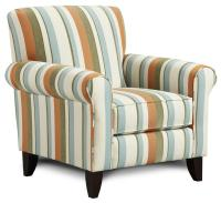 Fusion Furniture 502 Print Fabric Accent Chair - Furniture ...