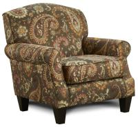 Fusion Furniture 532 Accent Chair with Rolled Arms ...