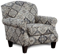 Fusion Furniture 532 Accent Chair with Rolled Arms | Zak's ...