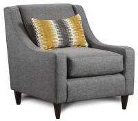 Fusion Furniture 592 Accent Chair with Pillow & Sloping ...