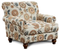 Fusion Furniture 622 Traditional Accent Chair with Rolled ...
